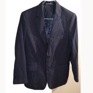 Boys Pinstripe Nautica Suit Jacket, Size 14
